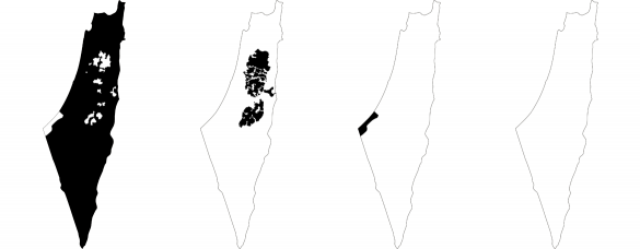 Access, 2011 (left to right): Israeli ID, West Bank ID, Gaza ID, stateless Palestinian refugees