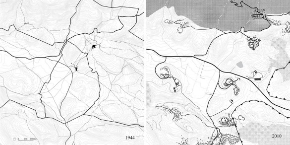 Regional infrastructure mapping, 1948 and 2010