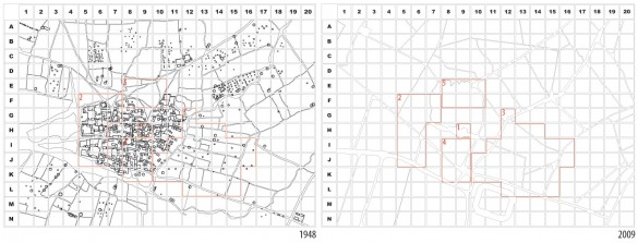 A sampling grid of 50x50m for the investigation of spatial strategies