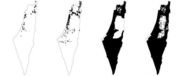 The Zionist land regime, Jewish-owned land 1918, 1947, Israeli 'state land' 1960, 2002