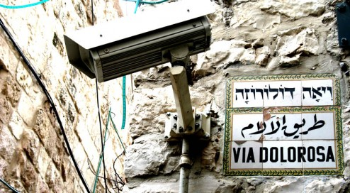 CCTV on the Via Dolorosa, Jerusalem