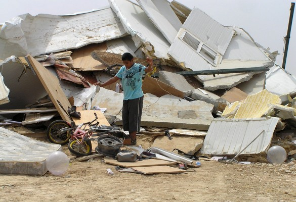 A destroyed house in Al-Araqib, a few days after the first demolition