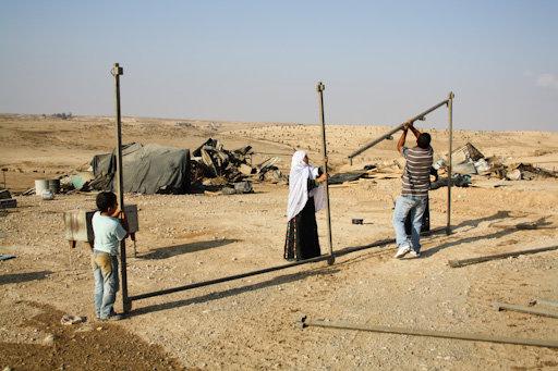 Rebuilding al-Araqib, August, 2010