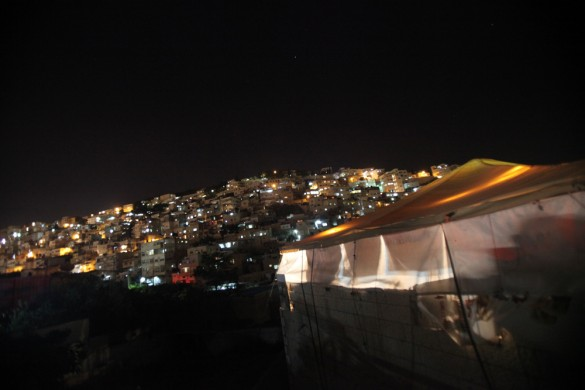 The final night of 2011 Palestine Festival of Literature takes place at the solidarity tent in Silwan