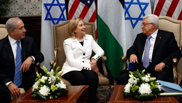 Netanyahu, Clinton and Abbas at yet another round of negotiations in Sharm el Sheikh, 2010