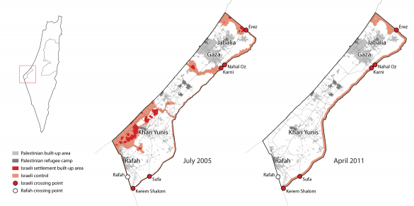 Gaza restrictions before and after Israeli 'pull-out'
