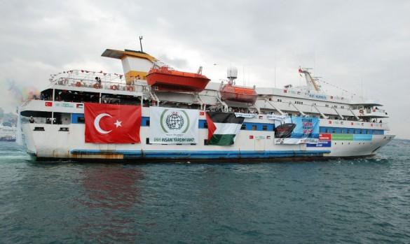 The Mavi Marmara setting sail in May 2010